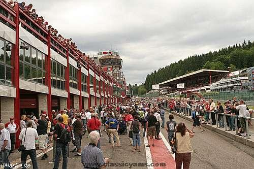 Huge crowds in Spa, 2008